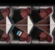 Boczny widok luksusowi klasa business apartamenty wewnętrzni na czarnym tle ilustracja wektor