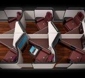 Boczny widok luksusowi klasa business apartamenty wewnętrzni na czarnym tle ilustracji