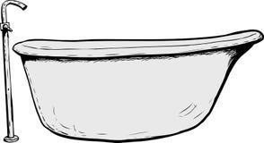 Boczny widok na kąpielowej balii ilustracji