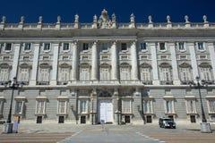 Boczny widok Palacio real de Madryt Zdjęcia Royalty Free