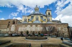Boczny widok San Fransisco El Grande kościół w Madryt Hiszpania zdjęcia royalty free