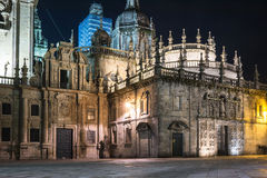 Boczny widok Santiago katedra Obraz Royalty Free