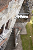 Boda al aire libre en el castillo Foto de archivo