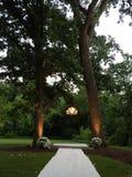 Boda al aire libre romántica Fotografía de archivo libre de regalías