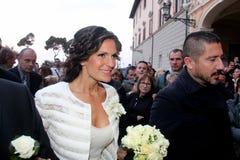 Boda Andrea Bocelli y Veronica Berti Fotos de archivo