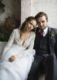 Boda de la boda de Together Love Happiness de novia y del novio Imágenes de archivo libres de regalías