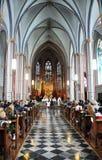 Boda de la iglesia Imágenes de archivo libres de regalías