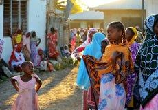 Boda de Muslim´s, Zanzibar fotografía de archivo