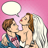 Boda de novia y del novio ilustración del vector