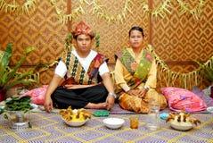 Boda de Orang Asli Imagen de archivo libre de regalías