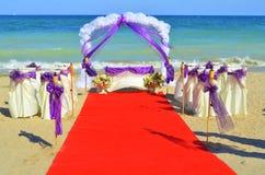 Boda de playa Imagenes de archivo