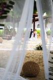 Boda de playa Imagen de archivo libre de regalías