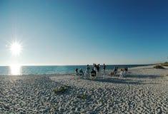 Boda de playa fotos de archivo libres de regalías
