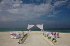 Boda de playa en Maldivas Imagen de archivo