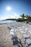 Boda de playa tropical Imagen de archivo libre de regalías