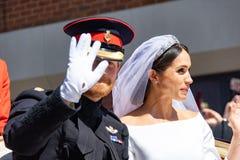 Boda de príncipe Harry y de Meghan Markle Foto de archivo libre de regalías