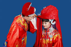 Boda del chino tradicional Fotografía de archivo libre de regalías