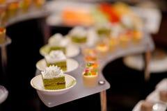 Boda del postre del abastecimiento de la comida del cóctel Imagen de archivo libre de regalías