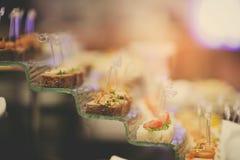 Boda del postre del abastecimiento de la comida del cóctel Fotografía de archivo libre de regalías