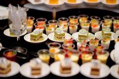 Boda del postre del abastecimiento de la comida del cóctel Fotos de archivo libres de regalías