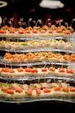 Boda del postre del abastecimiento de la comida del cóctel Fotografía de archivo