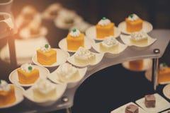 Boda del postre del abastecimiento de la comida del cóctel Foto de archivo libre de regalías