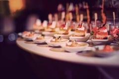 Boda del postre del abastecimiento de la comida del cóctel Imágenes de archivo libres de regalías