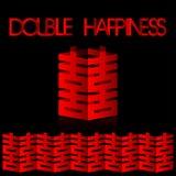 Boda doble de la felicidad Fotografía de archivo libre de regalías