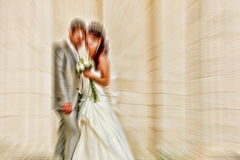 boda El filtro defocusing del enfoque del efecto radial de la falta de definición se aplicó, ingenio fotos de archivo libres de regalías