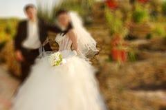 boda El filtro defocusing del enfoque del efecto radial de la falta de definición se aplicó, ingenio foto de archivo