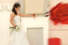 boda El filtro defocusing del enfoque del efecto radial de la falta de definición se aplicó, ingenio fotografía de archivo