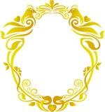 Boda floral del marco del oro Imagenes de archivo