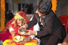 Boda india hindú tradicional Imágenes de archivo libres de regalías