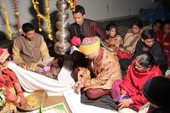 Boda india hind? tradicional Fotografía de archivo libre de regalías