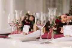 boda Los vidrios del champán Imagen de archivo libre de regalías