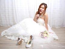 Boda que espera de la novia Fotos de archivo libres de regalías