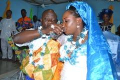 BODA RELIGIOSA AFRICANA Foto de archivo