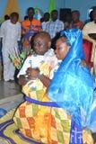 BODA RELIGIOSA AFRICANA fotografía de archivo libre de regalías