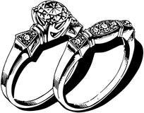 Boda Ring Set Imagen de archivo