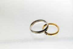 Boda rings-01 Imagen de archivo libre de regalías