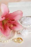Boda romántica Foto de archivo libre de regalías