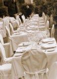 Boda table03 Fotografía de archivo libre de regalías