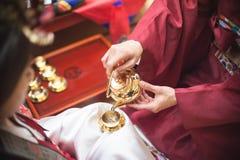 Boda tradicional en Corea Foto de archivo