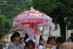 Boda tradicional, Gora Region, Kosovo meridional Imagenes de archivo