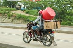 Bodaboda taxi in Tanzania Stock Images