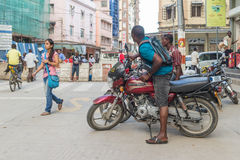 Bodaboda taxi in Tanzania Stock Images