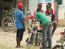 Bodaboda taxi w Tanzania Zdjęcie Stock