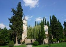 Bodbe monasteru kościół sceneria obrazy stock