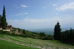 Bodbe monasteru ogródu ścieżki obraz royalty free