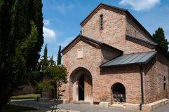 Bodbeklooster Heilige Nino Monastery in Bodbe Dichtbij Sighnaghi, Georgië royalty-vrije stock afbeelding